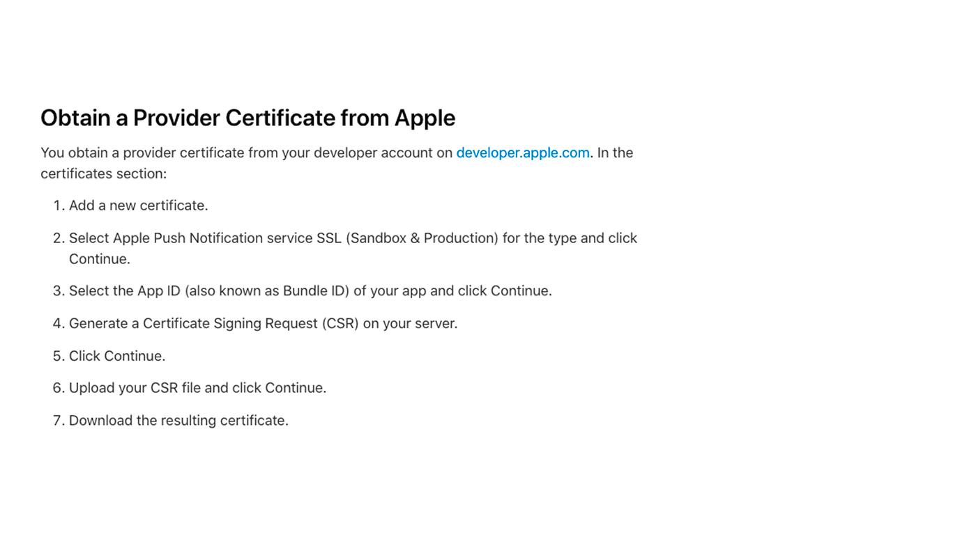 пример алгоритма создания сертификата push notification