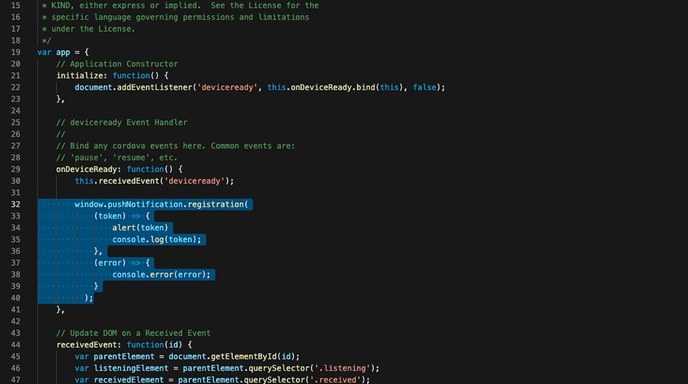 добавляем javascript код